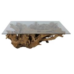 Couchtisch - Teakwurzelholz - 140x90 cm