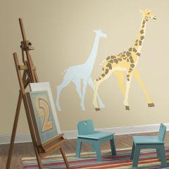 Wandaufkleber Giraffe