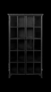 Vitrine Manhattan - Metall / Glas - schwarz