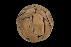 Dekorative Kugel - ø30 cm - Teakholz