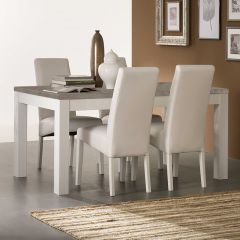 Roma Weiss/beton Tisch 160