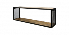 Wandregal Brixton - 98x30 cm - Mangoholz / Eisen