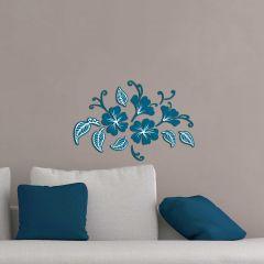 Wandsticker 3D Blumen & Blätter - Schaumstoff