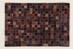 In Leather Patchwork Choco 300X200