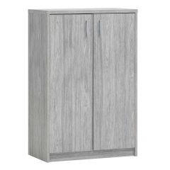 Kommode Spacio 2 Türen H 110cm - Eiche grau