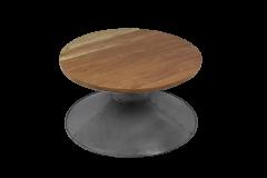 Couchtisch - ø80 cm - Recycling Holz / Eisen