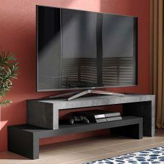 Fernsehschrank Cliff 125cm - Beton/Schwarz