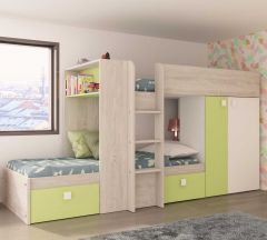 BO1 Bunk Bed 200cm with base Cascina+Wh
