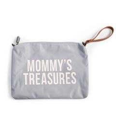 Mommy Clutch Grau/Altweiss