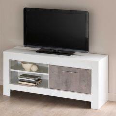 Modena Weiss/beton TV möbel 112cm