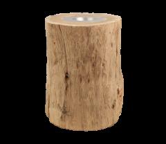 Kerzenhalter groß - ø10 cm - altes Teakholz