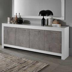 Modena Weiss/beton Kommode 4t