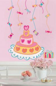 RoomMates Wandsticker - Geburtstagstorte