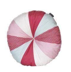 Rundes dekoratives Kissen - rosa