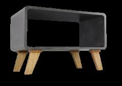 Couchtisch Cube - graue Betonoptik