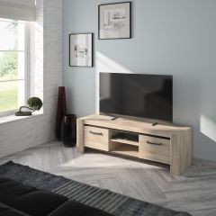 ALBIN - Banc TV 2 portes Chêne Krönberg clair