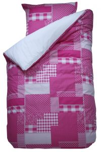 Bettbezug Patchwork rosa