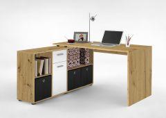 LEXO/LEX - Schreibtisch bestehend aus 2 Colli - Artisan Oak Nb/weiß