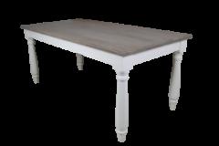 Esstisch - 200x100 cm - altgrau / weiß