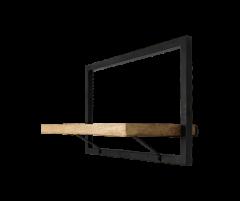 Wandregal Ebenen - 51x32 cm - Mangoholz / Eisen
