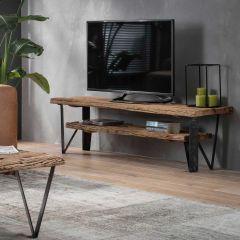 TV-möbel 160x40 1 Zwischenregal - Robustes Hartholz