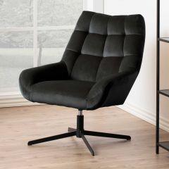Paris swivel chair - black, grey brown