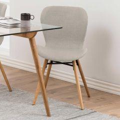 Batilda - A1 dining chair - sand, oak;black - set of 2
