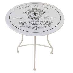 Bistro de Paris table white