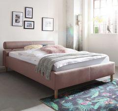 Gestoffeerd bed Feline - 140x200 cm - oude roos