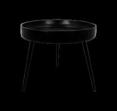 Beistelltisch Ventura - ø50 cm - schwarz - Mangoholz / Eisen
