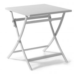 Grasse folding table 70 x 70 alu white