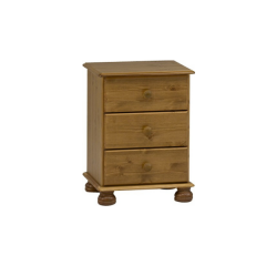 Nightstand RICHMOND 203 - Nightstand with 3 drawers - STAINED LACQUER