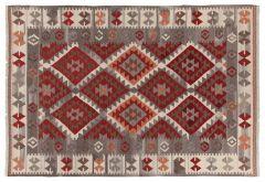 Kilim Zagros Red/Grey/Iv 200X140