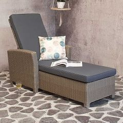 Stacey wicker sunlounger