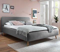 Gestoffeerd bed Mattis - 160x200 cm - Lichtgrijs