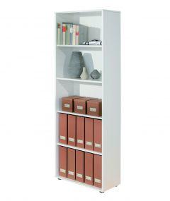Bücherregal Parini 5 Fächer - weiß