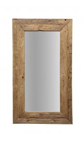 Wandspiegel Rustikal - 140x90 cm - Treibholz Teakholz