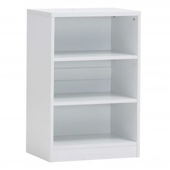 Bücherregal Spacio 55cm mit 2 Einlegeböden - weiß