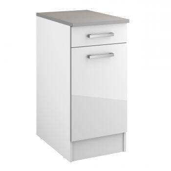 Unterschrank Eli 40 cm mit Schublade und Tür - weiß