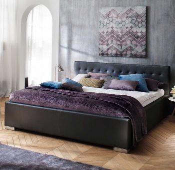 Gedempt bed Sandra Comfort - 140x200 cm - Zwart