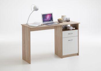 Schreibtisch Jady - Eiche/weiß