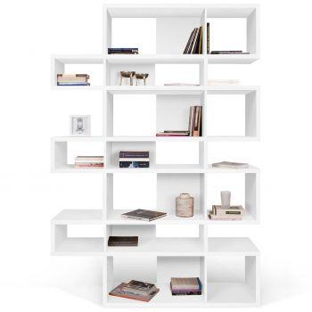 Bücherregal Lissabon 3 - weiß