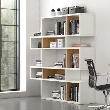 Bücherschrank Lissabon 2 - weiß/Eiche