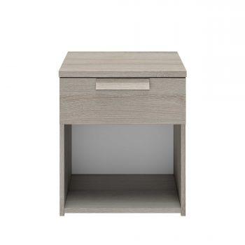 CYRUS - Chevet 1 tiroir Chêne gris clair