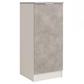 Küchenschrank Löffel H140 cm mit Tür - Beton