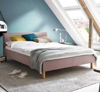 Gestoffeerd bed Lena - 120x200 cm - Oude roos