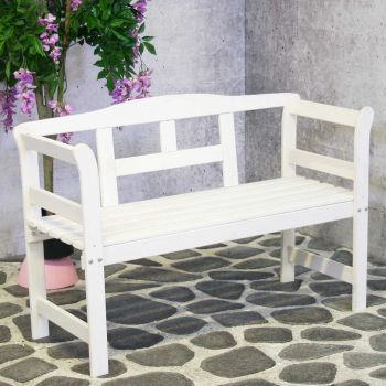 Friesenbench White 122 cm  FSC 100%
