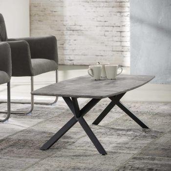 Couchtisch 120x60cm Oval 3d texture - 3D Beton dekor