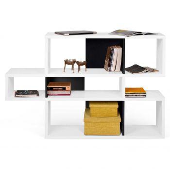 Bücherschrank Lissabon 1 - weiß/schwarz