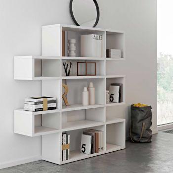 Bücherregal Lissabon 2 - weiß